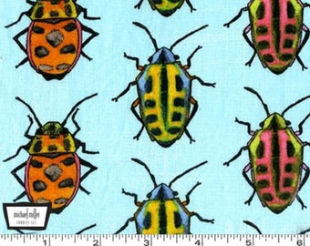 Flutter - Bugs Sky Turquoise - Cotton Fabric by Laura Gunn from Michael Miller