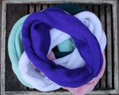 The Bee's Knees!!! Soft & Slinky Knotty Knitted Infinity Scarves