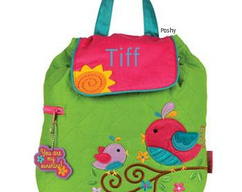 Personalized Backpack or Baby Diaper Bag Stephen Joseph Quilted Bird