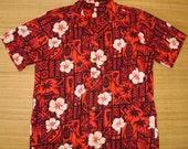 Mens Vintage 60's Tina's Tribal Tiki Rockabilly Hawaiian Aloha Shirt - L -  The Hana Shirt Co