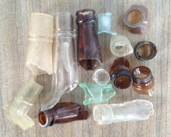 sale collection sea glass bottle tops eclectic by