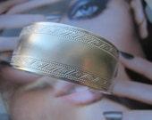 Vintage Silver Plated Ornate Cuff Bracelet 1Pc.