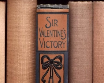 Vintage Valentine book Sir Valentine's Victory and Other Stories by Emma Marshall