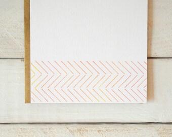 Herringbone Notecards, Herringbone Stationery, Watercolor Stationery, Blank Notes, Stationary, Pretty Stationery, Note Cards, Flat Notecards