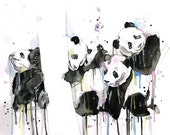 Panda Illustration Print