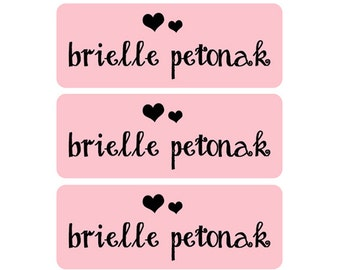 Name Labels Girl, Waterproof Name Labels, Dishwasher Safe Name Labels, School Name Labels, Daycare Name Labels, Clothing Labels, Pink, Girl