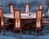 Round Dining Table with Ten Chairs