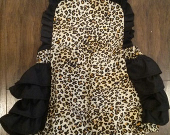 Leopard Ruffle Romper