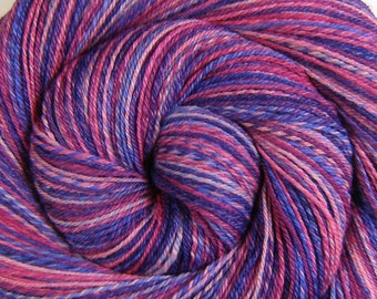 Handspun Yarn - BIRTHDAY PARTY - Handpainted Silk / Polwarth wool, 3 ply Fingering weight, 434 yards