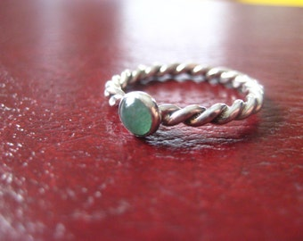 Adventurine Twisty Stack Ring