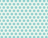 Riley Blake - Polka Dot - Aqua Blue - Good dot - white C2883 dots