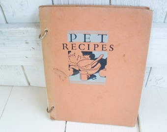 Vintage cookbook PET Milk Recipes color food illustrations 1931 Art Deco cover
