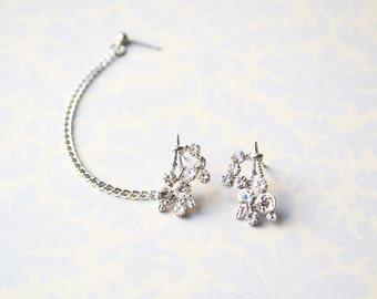 Silver Eiffel Tower Cartilage Earrings (Pair)