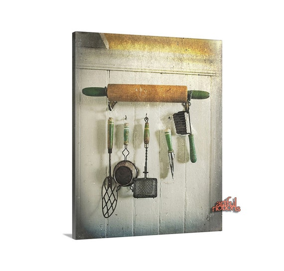 Vintage Wall Art For The Kitchen : Kitchen wall decor canvas art vintage farm by
