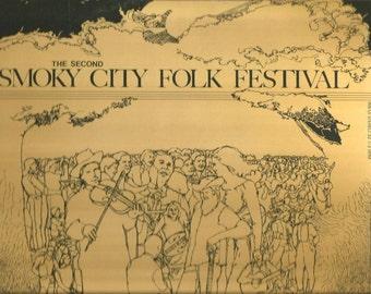 Smoky City Folk Festival LP 1978 Wildebeest Records Pittsburgh folk music