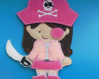 Little Pink Pirate Girl Non Paper Doll and outfit
