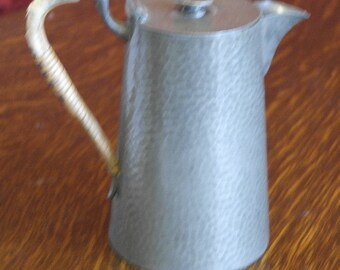 antique english pewter coffe pot liberty style