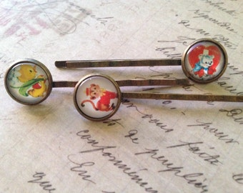 Bobby Pins, Hair Pins, Hair Clips, Hair Barrettes, Animal Bobby Pins, Hair Clips