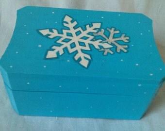 Snowflake Sparkly Trinket Box