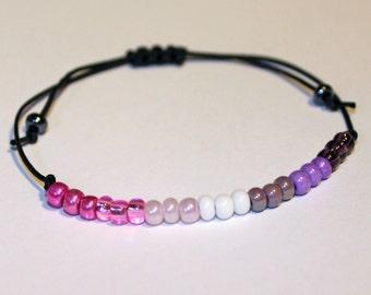 Lipstick Lesbian Pride Minimalist LGBT Bracelet