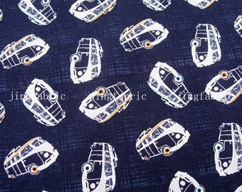 C089 - 1 meter Cotton Fabric - Small bus (145cm width)
