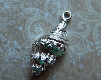 Nunn Design Sterling Silver Plated Trumpet Seashell Charm Drop Pendant Charm Drop Small Pendant SALE!! 50% OFF!!