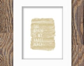 DIGITAL DOWNLOAD watercolor beach print; beach is my happy place print; sand; tan; watercolor; instant download; digital beach art; sandy