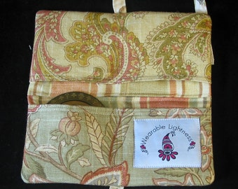Belly Dance Zill Case - Organized Silence - Eco-friendly - Upcycled Designer Fabric