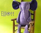 Elliott Elephant - digital PDF stuffed animal pattern