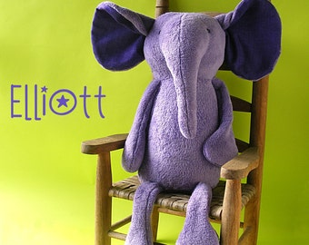 Elliott Elephant - digital PDF stuffed animal pattern