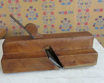 Antique Woodworking Tool ,Primitive Wood Plane, Joseph Gibson Albany, Crown Molding Plane, Industrial, Construction Collectible