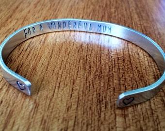 For a wonderful Mum... cuff bracelet...