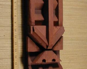 Hand Built Primative Tribal Wood Tiki