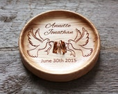 Wedding Ring box alternative Wedding Ring Pillow alternative Wedding ring plate Wedding ring dish Wedding ring bowl Two Doves bearer