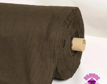 "173248001 - 58"" Wide Kenized Silver Cloth Dark Brown By The Yard"