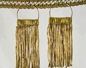 Antique French Coil Fringe Earrings