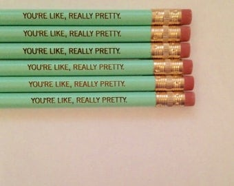 you're  like really pretty pencil set 6 mint green. haaaaay you're gorgeous.
