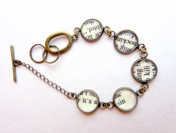 It's a Sin to Kill a Mockingbird. Bookpage Link Bracelet