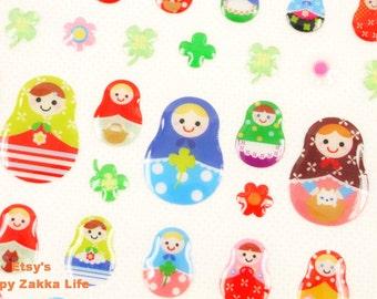 Matryoshka - Seal Stickers - 3D PVC Deco Sticker - 1 Sheet
