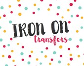 Iron-on Transfer Upgrade for Monthly Stickers