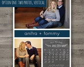 Chalkboard Calendar Save the Date, Wedding Save the Date, Printable Wedding Save the Date