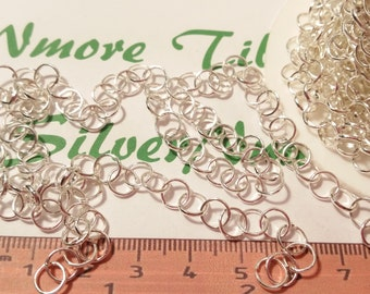 1 ft. of 6mm Rollo E-Coated non tarnish Chain Brass Silver Plated Finish Round.