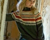 Made to order - Hand knit woman man fair isle sweater