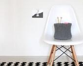 Jersey Storage Basket Knitting Pattern PDF, Knitted Basket Pattern