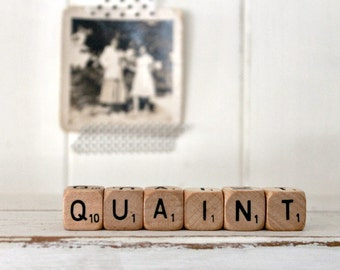 Vintage Letter Cubes QUAINT