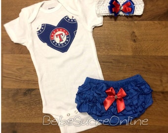 Texas Rangers Outfit and Headband