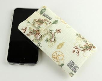 iPhone 6 Cover, iPhone 6 Plus Case, Smart Phone sleeve,Dragons White, Dark Yellow