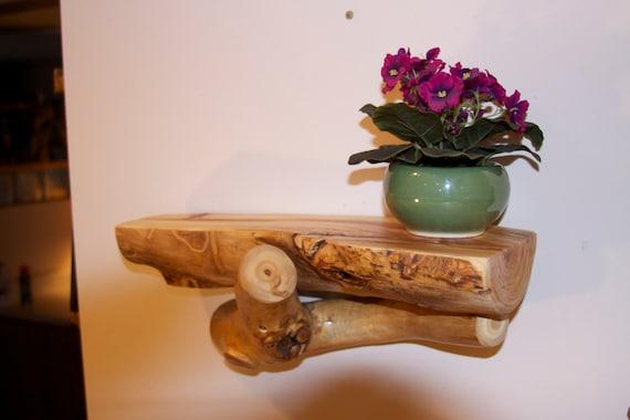 Aspen log accent shelf modern rustic decor rustic by for Aspen logs for decoration