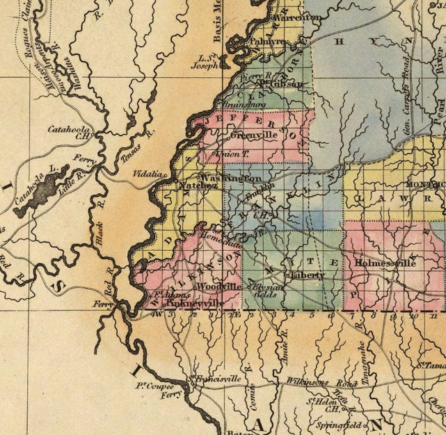 It is a picture of Refreshing Printable Map of Mississippi