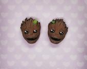 Groot - Hand-sculpted - kawaii Earrings (Guardians of the Galaxy)